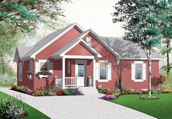 Country House Plan 76188 Elevation
