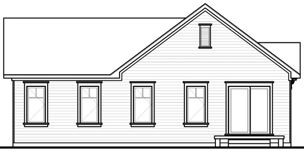 Country House Plan 76188 Rear Elevation