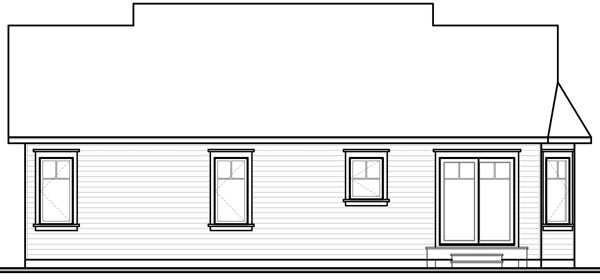 Bungalow Country House Plan 76189 Rear Elevation