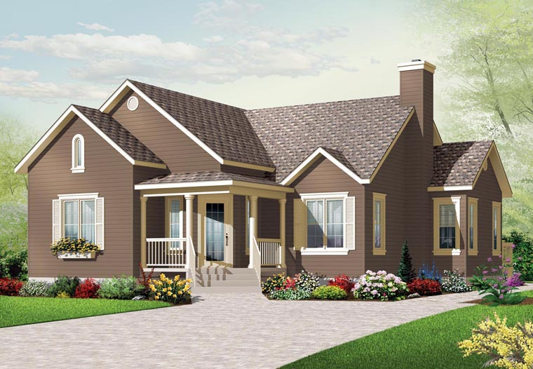 Country House Plan 76190 Elevation