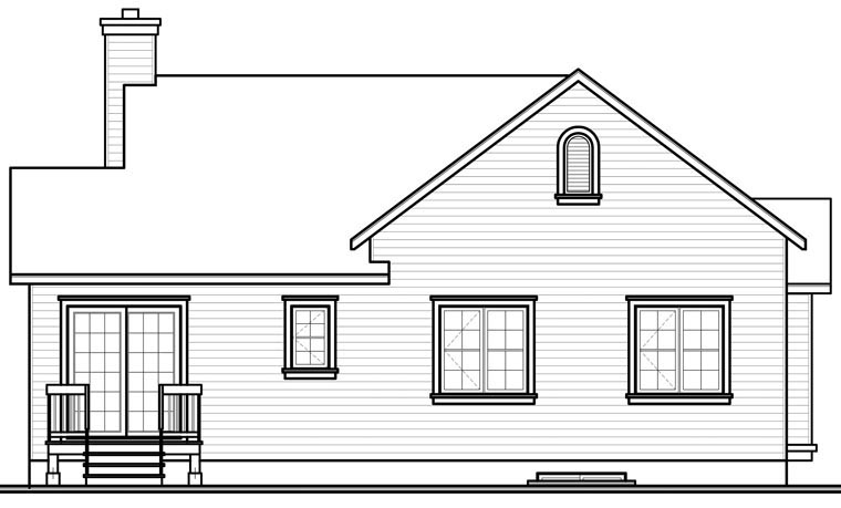 Country House Plan 76190 Rear Elevation