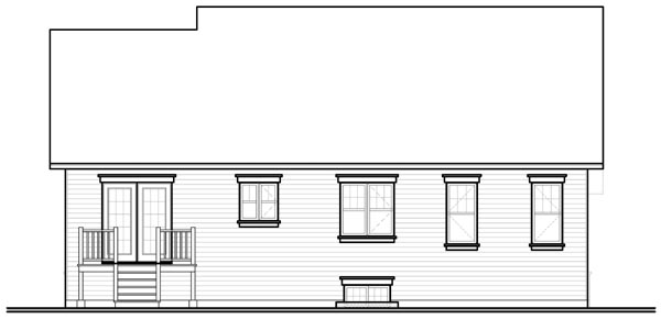 Bungalow Country Craftsman Farmhouse House Plan 76193 Rear Elevation