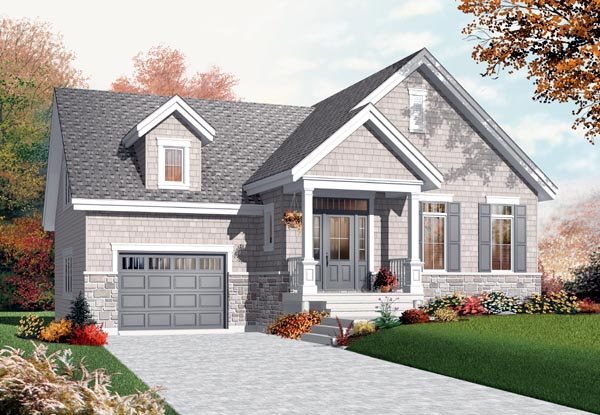 Bungalow Craftsman House Plan 76200 Elevation