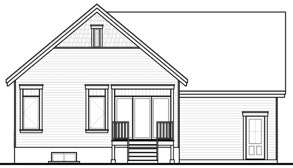 Bungalow Craftsman House Plan 76200 Rear Elevation