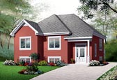Plan Number 76205 - 986 Square Feet