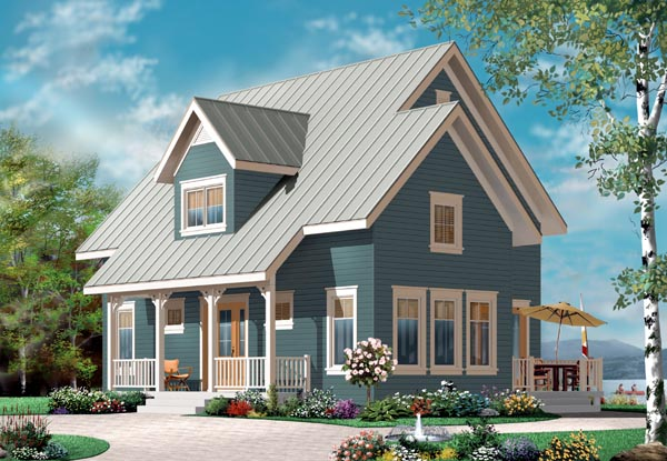 Country, Traditional House Plan 76216 with 3 Beds, 2 Baths Elevation