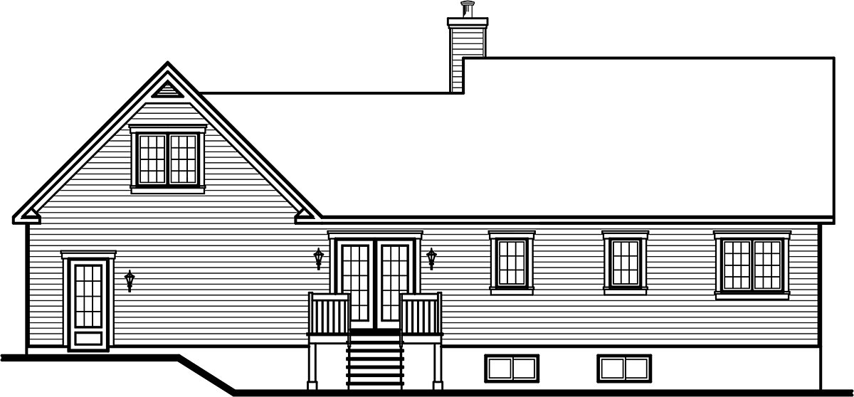 Country House Plan 76219 Rear Elevation