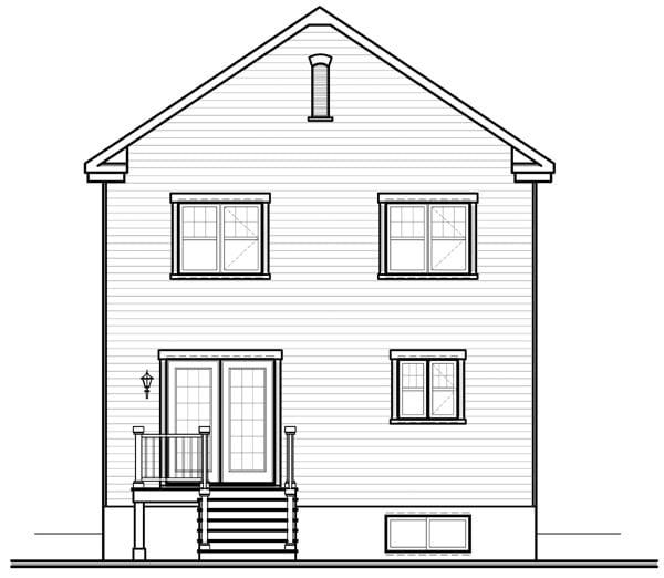 House Plan 76222 Rear Elevation