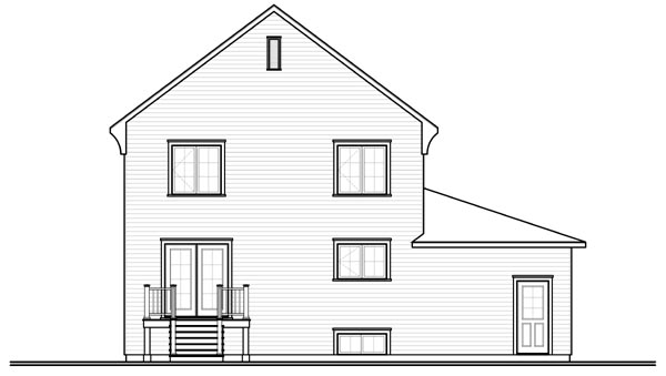 Country European House Plan 76224 Rear Elevation