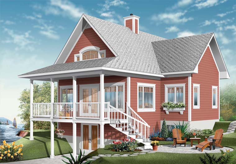 Coastal House Plan 76237 Elevation
