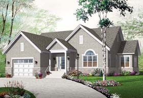 Country , European , Traditional House Plan 76250 with 2 Beds, 1 Baths, 1 Car Garage Elevation