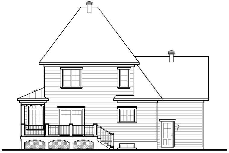 Traditional House Plan 76256 Rear Elevation