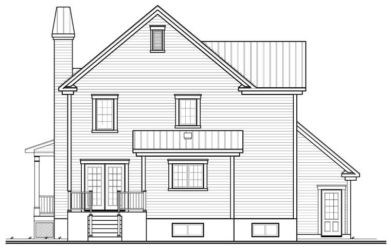 Country Traditional House Plan 76258 Rear Elevation