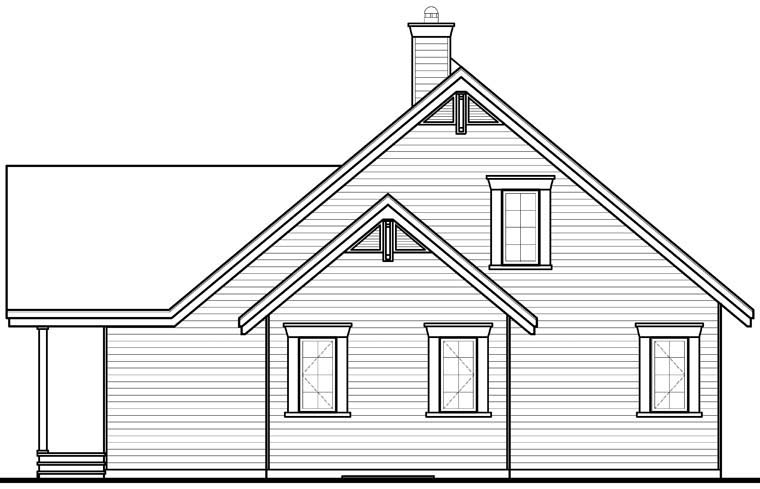 Coastal House Plan 76272 Rear Elevation