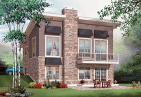 Contemporary House Plan 76276 with 3 Beds, 2 Baths Elevation