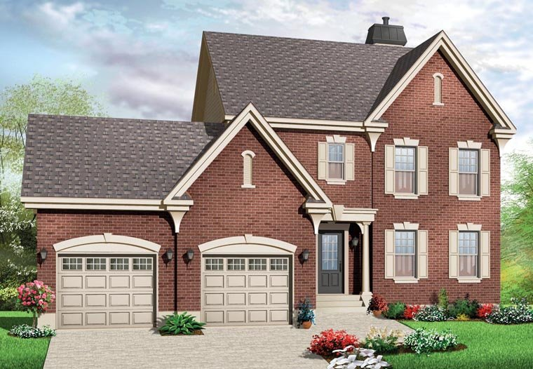 House plan 76279 at for Familyhomeplans 75137