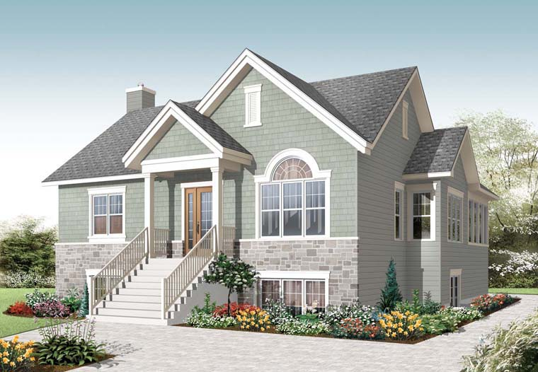 Cape Cod Craftsman House Plan 76281 Elevation