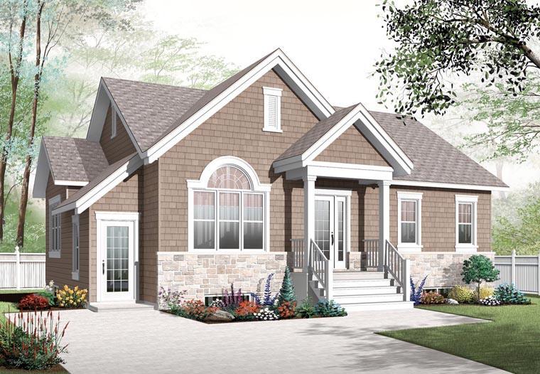 Cape Cod Craftsman House Plan 76282 Elevation