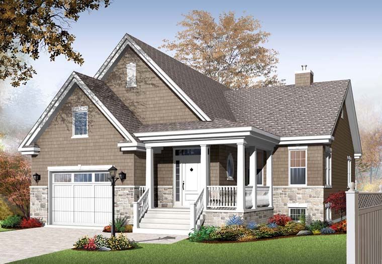 Country Craftsman House Plan 76286 Elevation