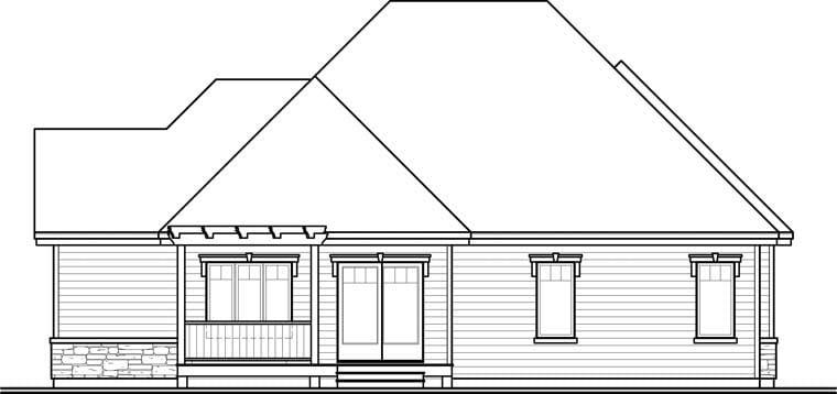Cottage European House Plan 76288 Rear Elevation