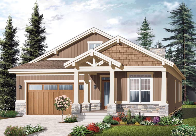 Country Craftsman House Plan 76292 Elevation