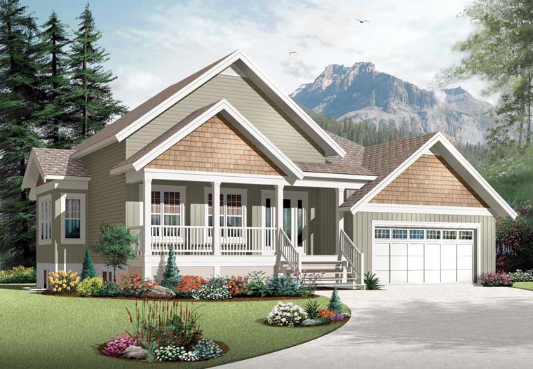Country Craftsman House Plan 76297 Elevation