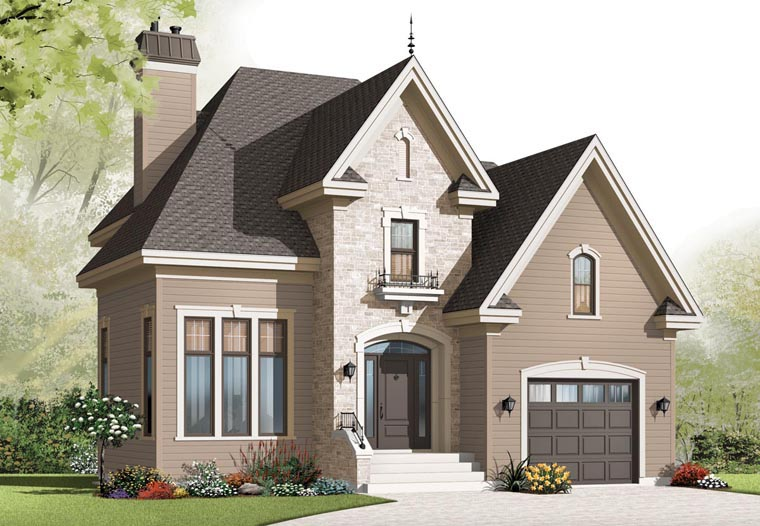 European House Plan 76301 Elevation
