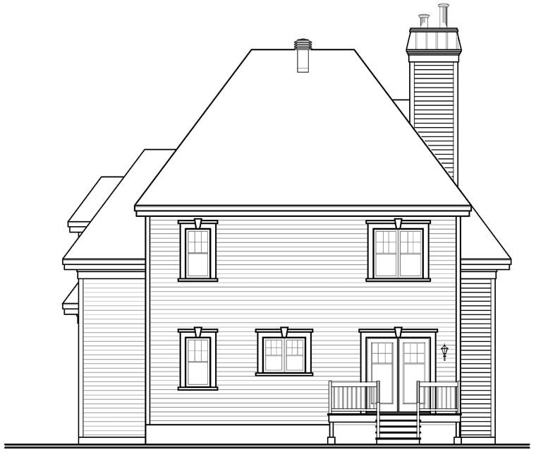 European House Plan 76301 Rear Elevation