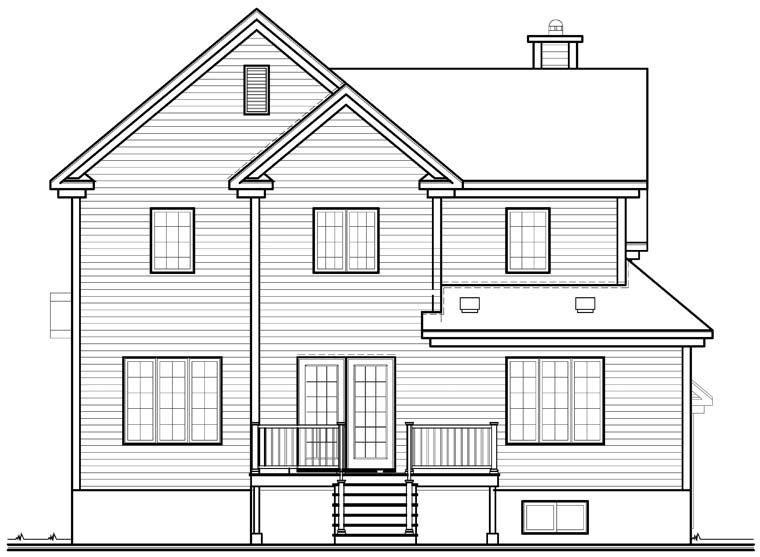 Country European House Plan 76304 Rear Elevation