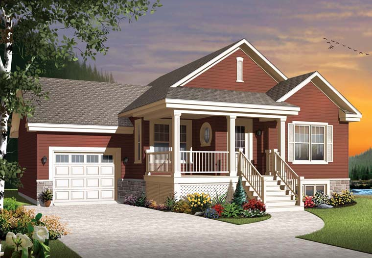 Country Craftsman House Plan 76314 Elevation
