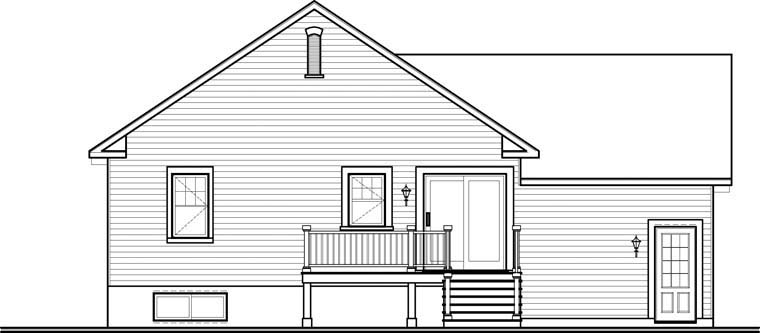 Country Craftsman House Plan 76314 Rear Elevation
