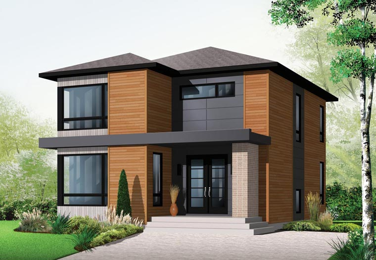 House Plan 76317 - Modern Style with 1852 Sq Ft, 3 Bed, 1 Bath, 1 ...