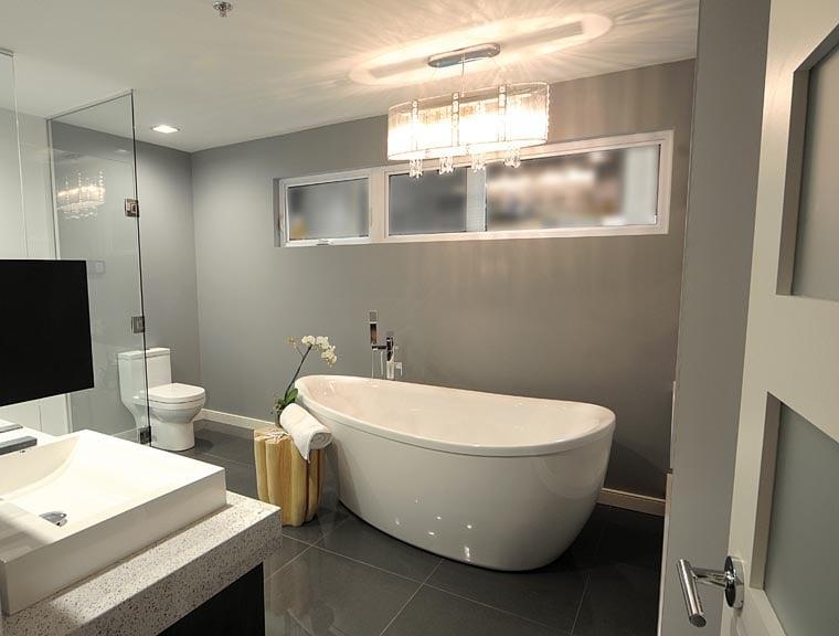 Stunning Grande Salle De Bain Contemporaine Gallery Lalawgroup - Plan salle de bain moderne