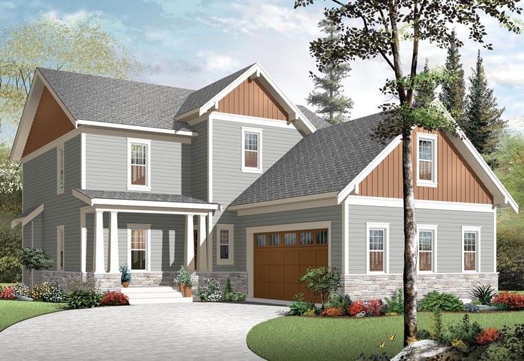 Craftsman House Plan 76321 Elevation