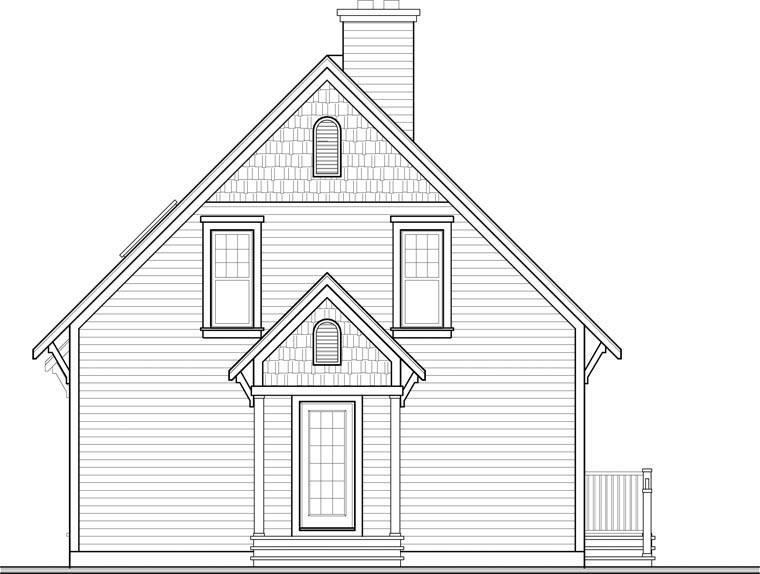 Cottage House Plan 76331 Rear Elevation