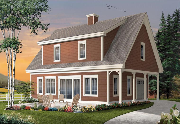 House plan 76333 at for Dormered cape