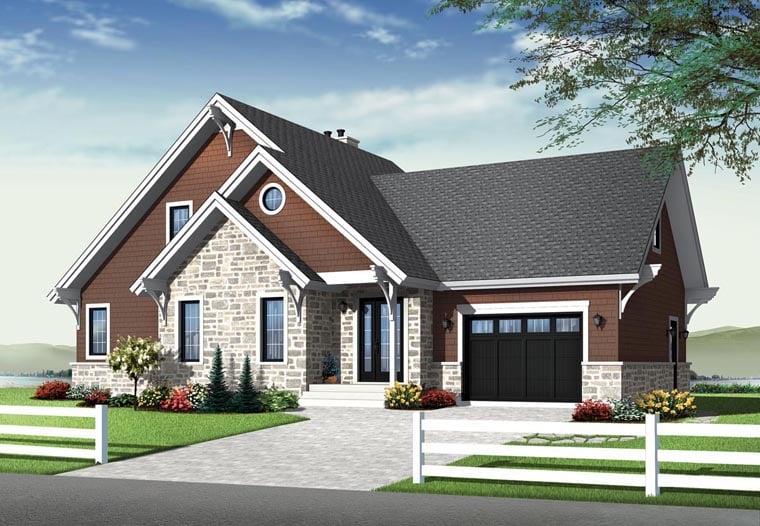 Cottage Craftsman House Plan 76342 Elevation