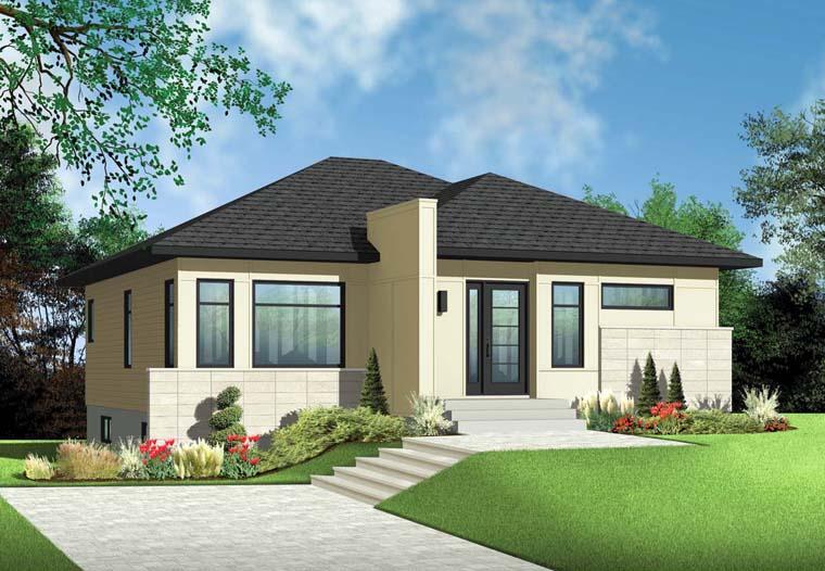 Contemporary House Plan 76347