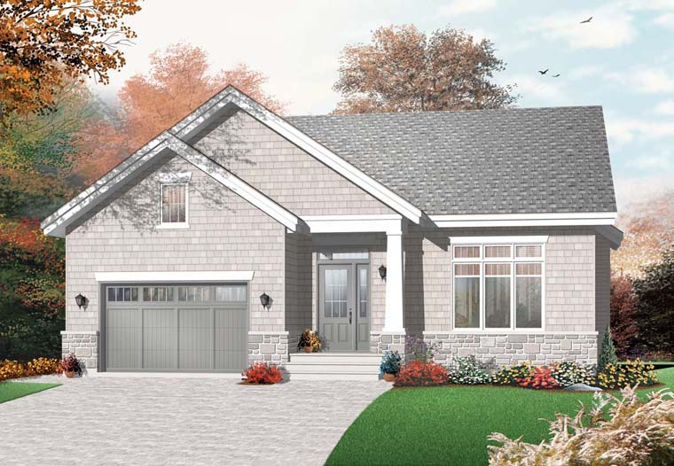 Cape Cod Craftsman House Plan 76354 Elevation