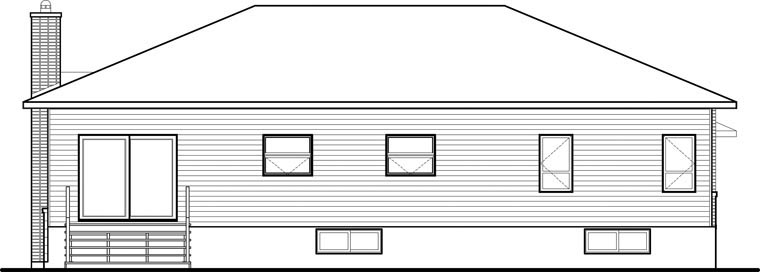 Contemporary Modern House Plan 76355 Rear Elevation