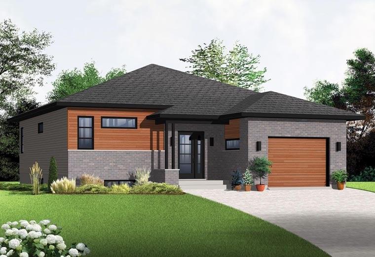 Contemporary Modern House Plan 76356 Elevation
