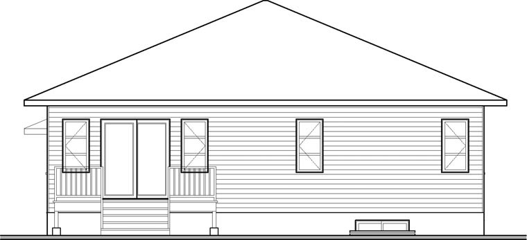 Contemporary Modern House Plan 76356 Rear Elevation