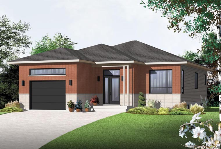 Contemporary House Plan 76357 Elevation