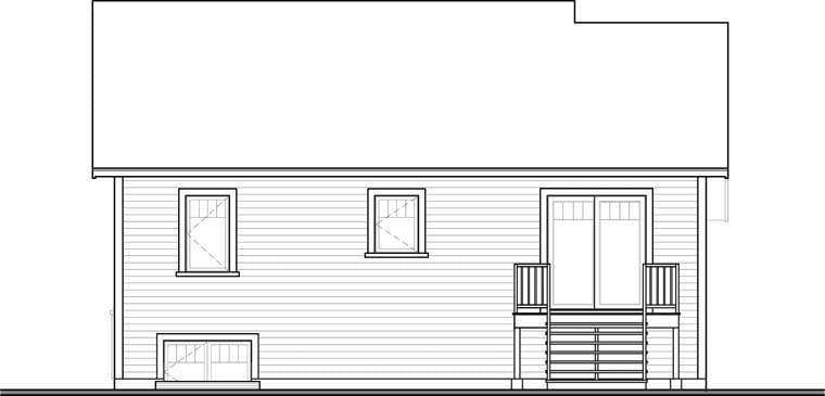 Craftsman House Plan 76358 Rear Elevation