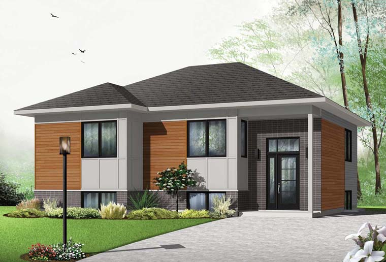 Contemporary House Plan 76359 Elevation