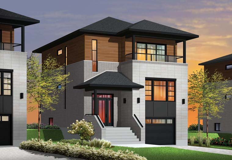 Modern house plan and elevation for Contemporary indian house elevations