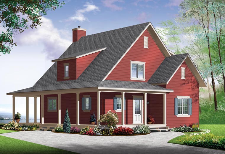 Country House Plan 76364 Elevation