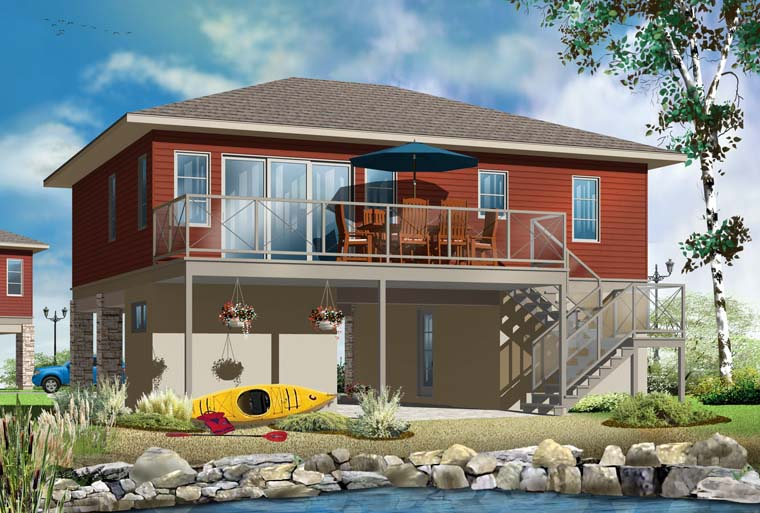 Contemporary Cottage House Plan 76373 Rear Elevation