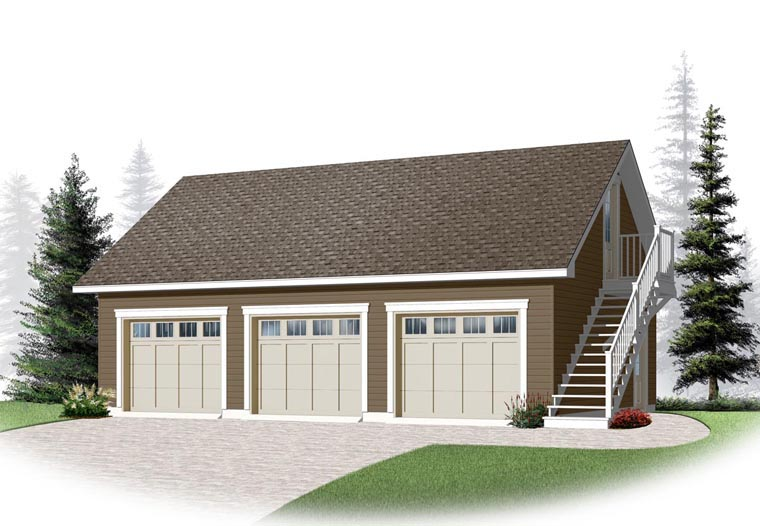 Garage Plan 76375 Elevation