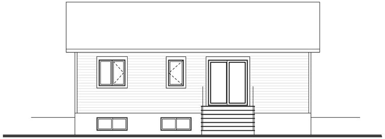 Cabin Ranch Traditional House Plan 76385 Rear Elevation